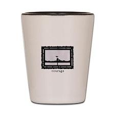 Iwo Jima Shot Glass