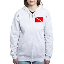 Diver sweatshirt (large flag/bk)Zip Hoodie