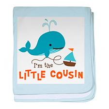Little Cousin - Mod Whale baby blanket