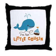Little Cousin - Mod Whale Throw Pillow