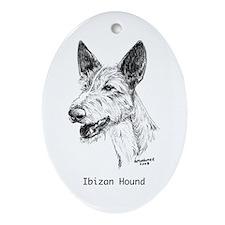 Ibizan Hound Ornament (Oval)