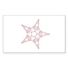red line star Decal