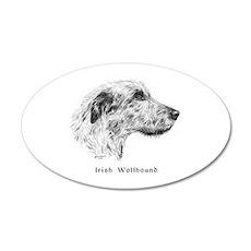 Irish Wolfhound 22x14 Oval Wall Peel