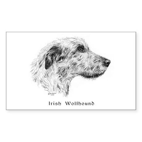 Irish Wolfhound Sticker (Rectangle)