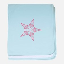 small red line star baby blanket