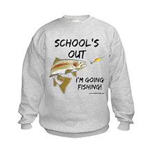 School's Out Trout Kids' Sweatshirt