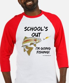 School's Out Trout Older Kids' Baseball Jersey