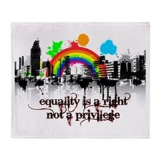 Equality is a right! Throw Blanket