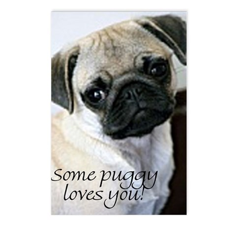 Some puggy loves you postcards
