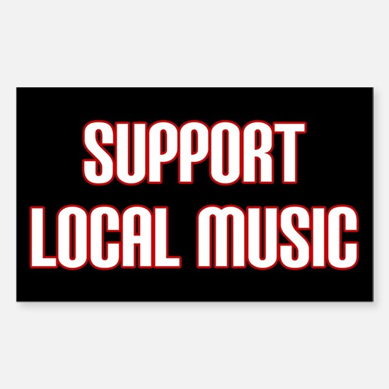 Support Local Music Sticker (Rectangle)