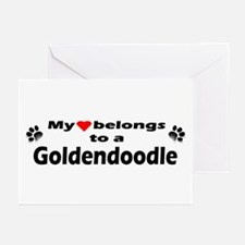 My Heart Goldendoodle Greeting Cards (Pk of 10