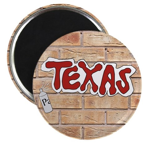 "Texas On Brick Wall 2.25"" Magnet (10 pack)"