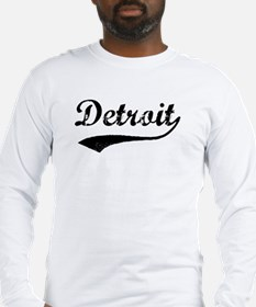 Vintage Detroit Long Sleeve T-Shirt