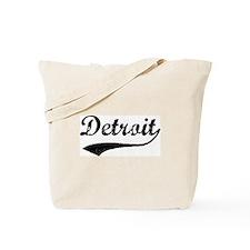 Vintage Detroit Tote Bag