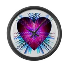 Electric Heart Large Wall Clock