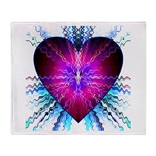 Electric Heart Throw Blanket