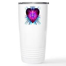 Electric Heart Travel Coffee Mug