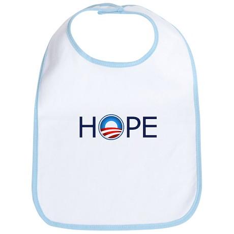 Hope Blue Text Bib
