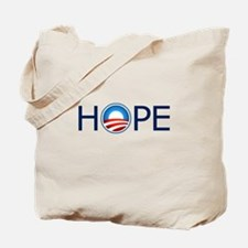 Hope Blue Text Tote Bag