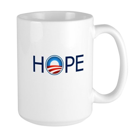 Hope Blue Text Large Mug
