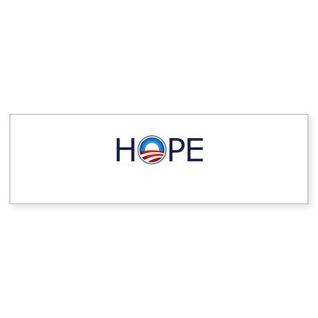 Hope Blue Text Sticker (Bumper 10 pk)