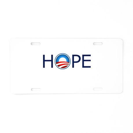 Hope Blue Text Aluminum License Plate