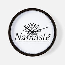 Lotus Namaste Wall Clock