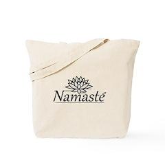 Lotus Namaste Tote Bag