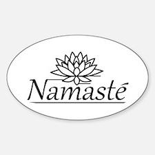 Lotus Namaste Sticker (Oval)
