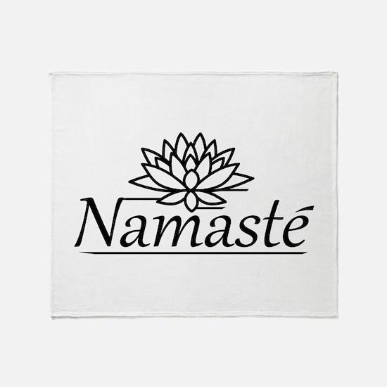 Lotus Namaste Throw Blanket