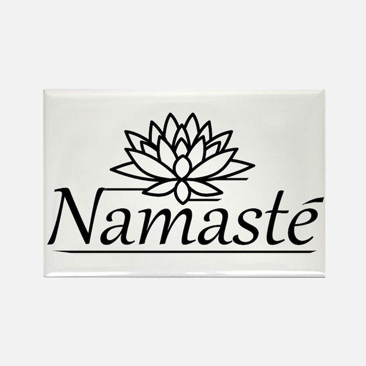 Lotus Namaste Rectangle Magnet (10 pack)