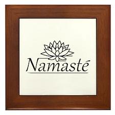 Lotus Namaste Framed Tile