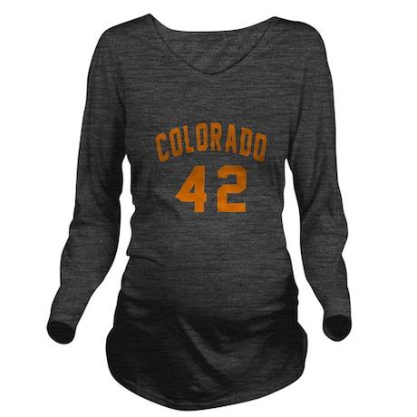 Colorado 42 Birthday Long Sleeve Maternity T-Shirt