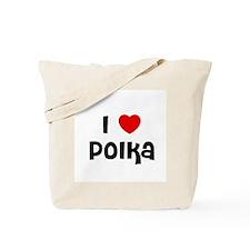 I * Polka Tote Bag