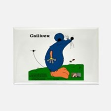 Gulliver The Rat Rectangle Magnet