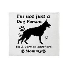 German shepherd mommy Throw Blanket