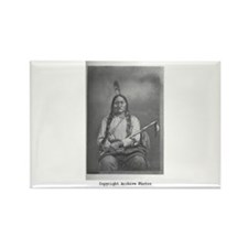 Sitting Bull Rectangle Magnet