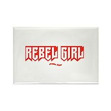 Rebel Girl Rectangle Magnet
