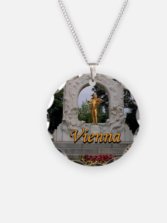 Vienna: Johann Strauss II mo Necklace Circle Charm