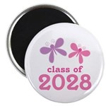 2028 Girls Graduation Magnet