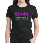 Exercise The Poor Man's Plast Women's Dark T-Shirt