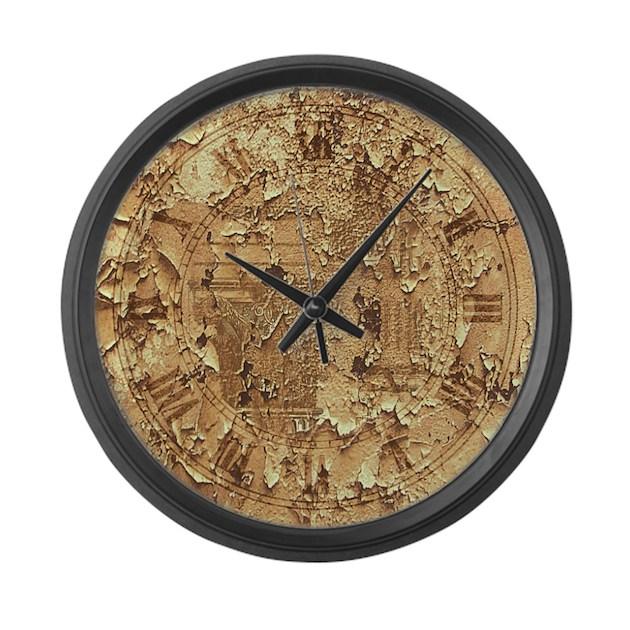 clock distressed large wall clock by plasmax
