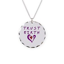 Trust Birth Necklace Circle Charm