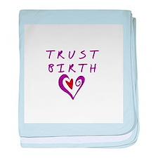 Trust Birth baby blanket