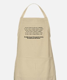The higher you get in the cor Apron