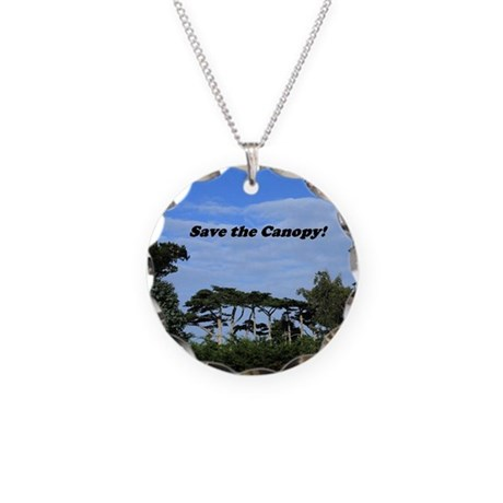 Save the Canopy Necklace Circle Charm