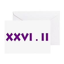 XXVI.2 Sans Serif Greeting Card