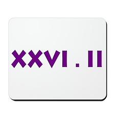 XXVI.2 Sans Serif Mousepad