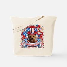 American Pride Yorkie Tote Bag