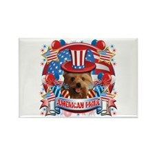 American Pride Yorkie Rectangle Magnet